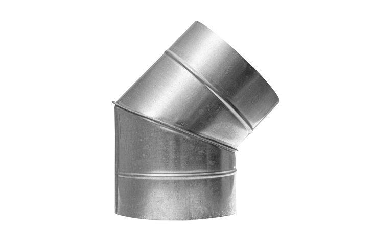 Отвод вентиляционный 45 градусов круглого сечения