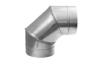 Отвод вентиляционный 90 градусов круглого сечения