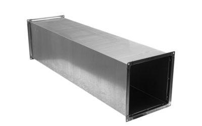 Прямой участок прямоугольного воздуховода из оцинкованной стали