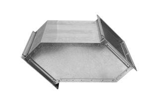 Утка вентиляционная прямоугольная